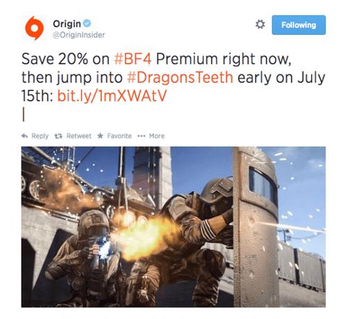 Origin DT Tweet