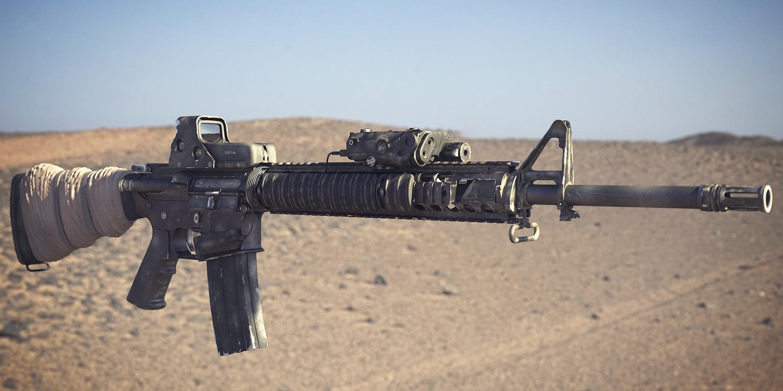 Image - BF3 M16A4 3D Model 2.png - Battlefield Wiki - Battlefield ...