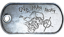 One Man Army Dog Tag