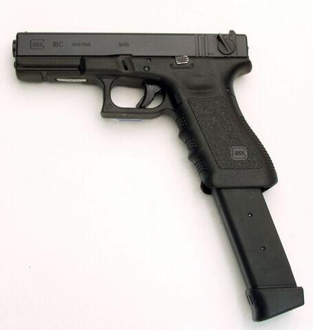 File:Glock 18 Extended Magazine.jpg