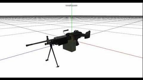 Battlefield 2 - M249 SAW 3D Model - BfMeshView