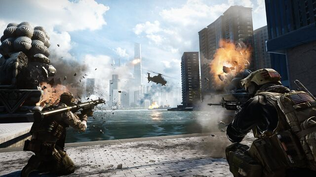 File:Battlefield 4 Siege of Shanghai Screenshot (from bottom of skyscraper).jpg