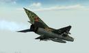 BFV MiG-21 REAR IN FLIGHT