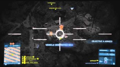 Battlefield 3 - AC 130 Gameplay on Death Valley (Armored Kill)