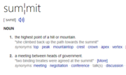 Summit definiton