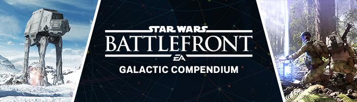 Star Wars Battlefront Galactic Compendium Header