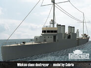 Wickes-class destroyer render