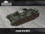 Crusader III AA Mk III render 1