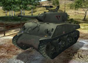 Sherman m4 105mm early