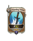 Melee 1 CARD HERO IMPEDING SWORD