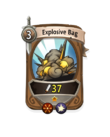 Melee 0 CARD HERO EXPLOSIVE BAG