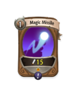 Magic 0 CARD HERO MAGIC MISSILE MIN