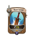 Melee 0 CARD HERO BLUNT SWORD