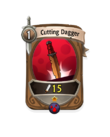 Melee 0 CARD HERO CUTTING DAGGER