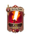 Melee 2 CARD HERO BURNING BLADE