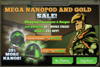 Mega Nanopod And Gold Sale