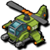 Air attack helicopter icon