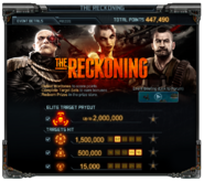 The Reckoning Event Details