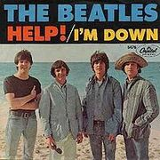 Help!/I'm Down single cover