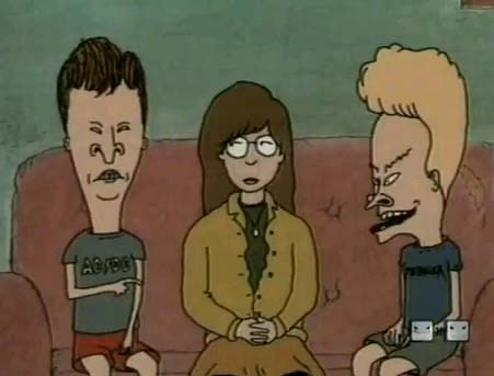 Image result for daria in beavis and butthead