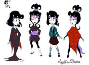 Lydia Deetz Animated - 4 Images in Color