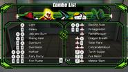 Heatblast combo list