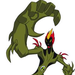 Anterior apariencia de Fuego Pantanoso en Ben 10: Omniverse.