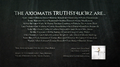 The Axiomatis TRUTHSt4lk3rz