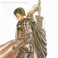 Guts cape flows around the Dragonslayer.