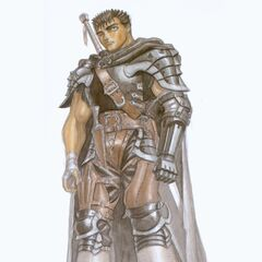 Guts during his travels as the Black Swordsman.
