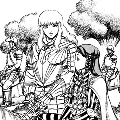 Charlotte and Griffith converse during the Autumn Hunt.