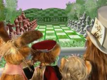 Chess Board Scene