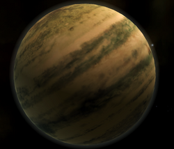 Delta Canopis System Planet Image