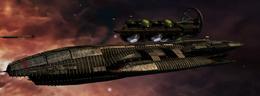 Galactica and Fleet in Alpha Ceti