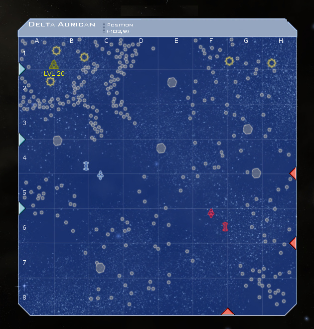 Delta Aurican System Map