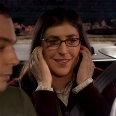 Amy happy because Sheldon was worried how she thought about him.
