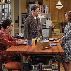 Sheldon's mother visiting.