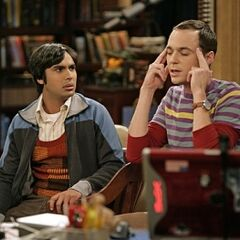 Sheldon and Raj.