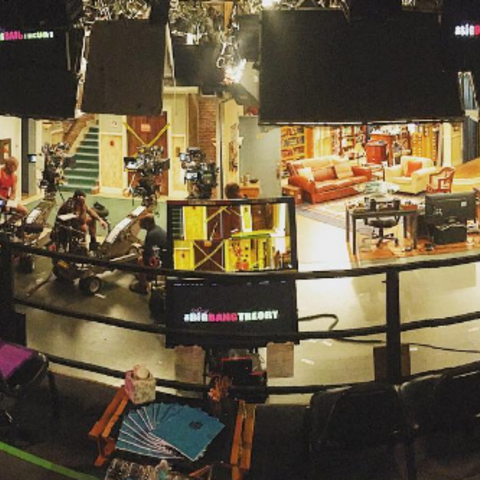 Set for that night's taping.