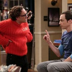 Sheldon wants Leonard to walk in his shoes by wearing an itchy sweater.