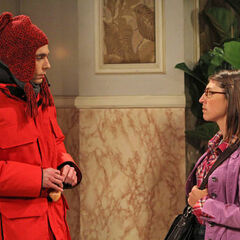 Amy assures Sheldon that he is not screwed and that she has not fallen head over heels in love with him.