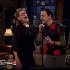 Singing with Sheldon.