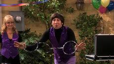 Howard showing his magic trick