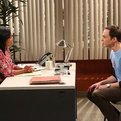 Offering Sheldon a promotion so he can study dark matter.