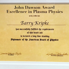 Award in Kripke's office.