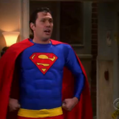 Zack as Superman.