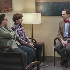 Sheldon wears a bow tie to make a good impression.