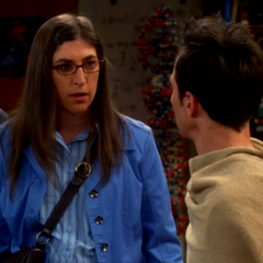Amy worried that Sheldon's new look makes him too sexy.
