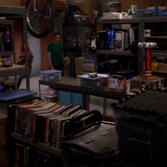 Sheldon's storage locker.