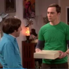 Sheldon is not amused by Howard's request.